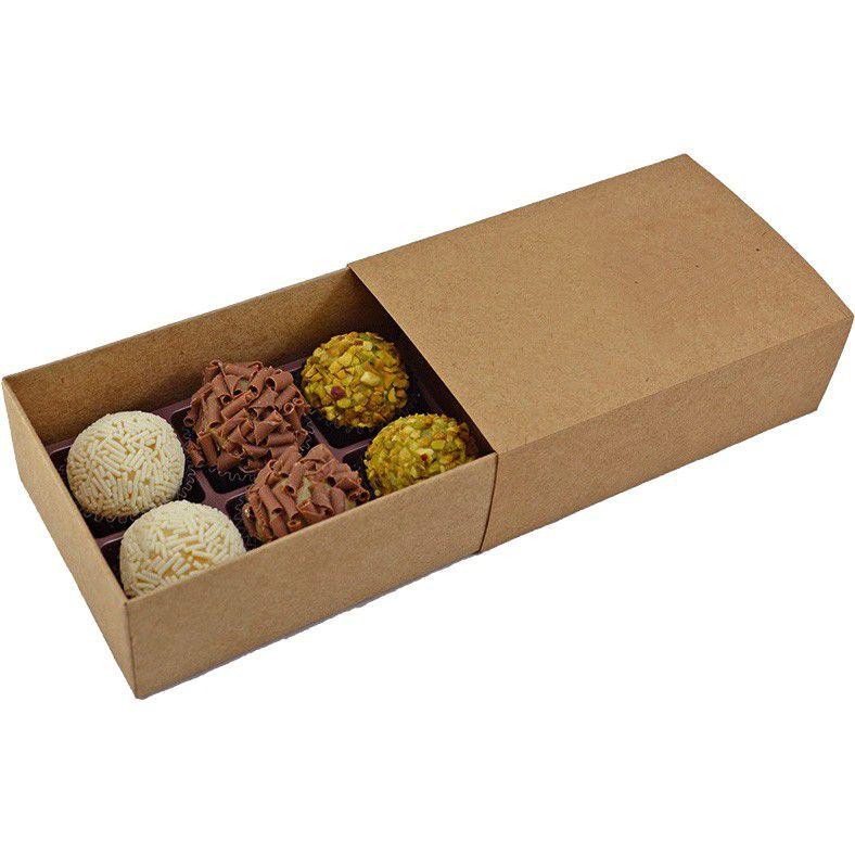 Caixa Deslizante para 6 doces (M) - KRAFT c/10 un