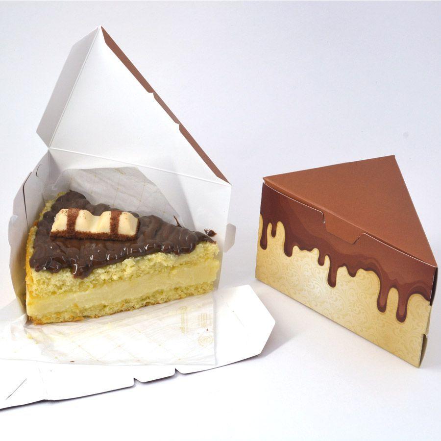 Caixa Fatia de Bolo - Chocolate c/100 un