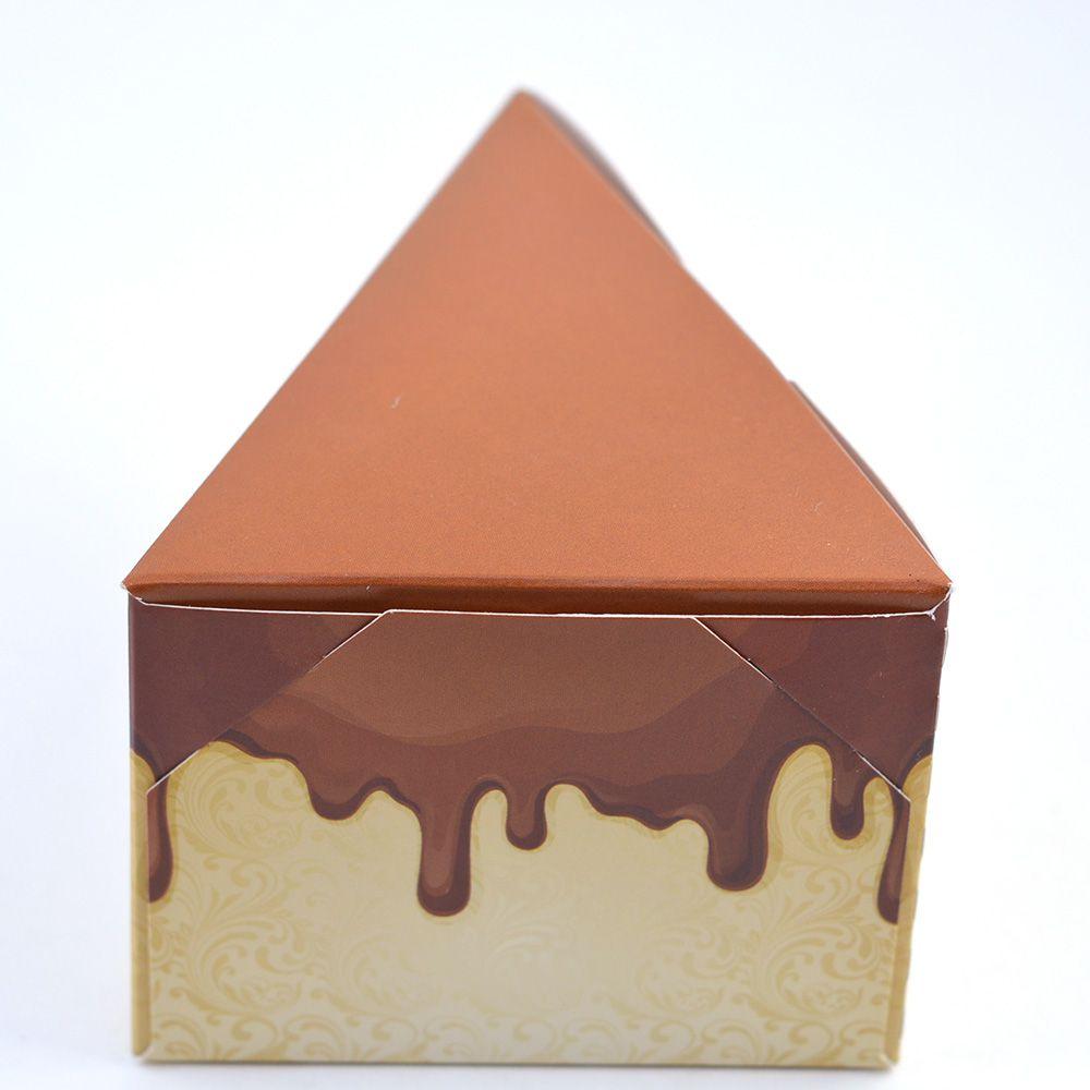 Caixa Fatia de Bolo - Chocolate c/25 un