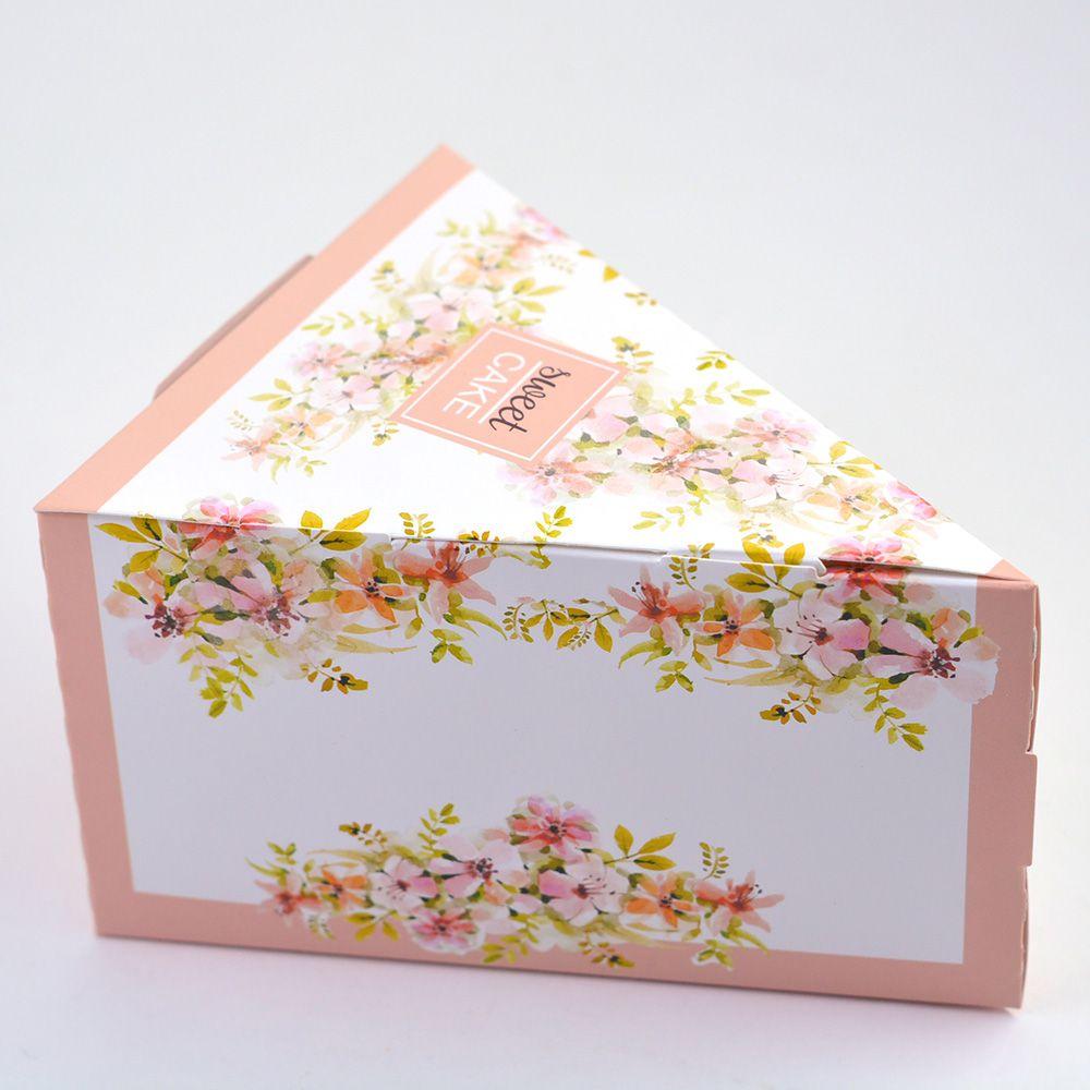 Caixa Fatia de Bolo - Floral Rose c/25 un