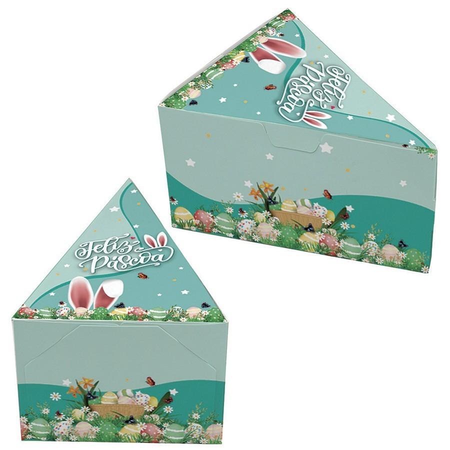 Caixa Fatia de Bolo - Magia da Páscoa c/100 un