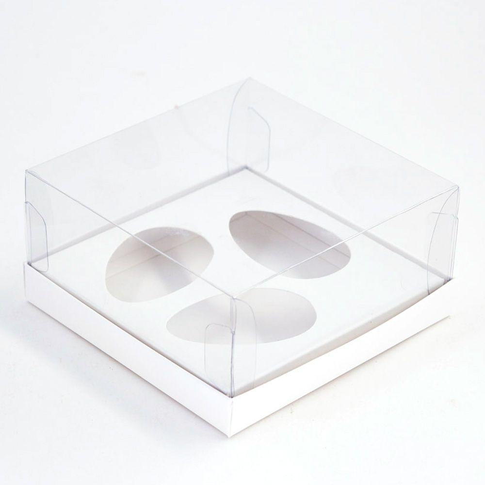 Caixa G Premium para 3 Ovos de 50g - BRANCA c/ 10 un