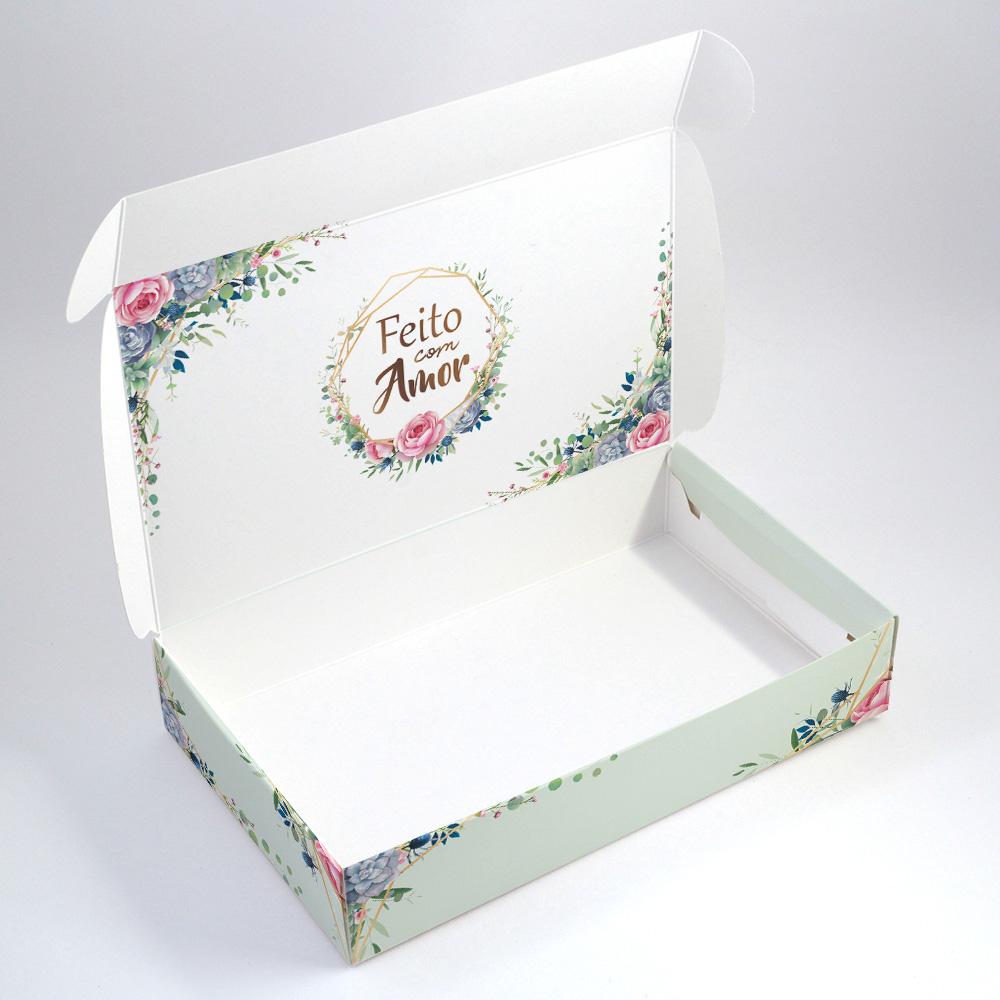 Caixa para 15 doces - Floral Verde c/10 un