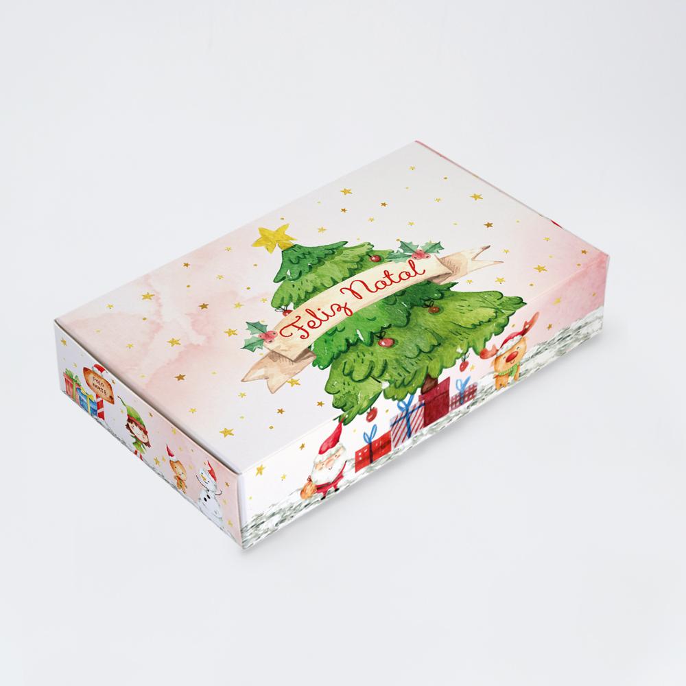 Caixa para 15 doces - Natal Alegre C/10 un
