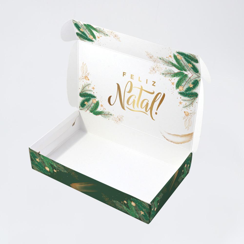 Caixa para 15 doces - Natal Esperança C/10 un