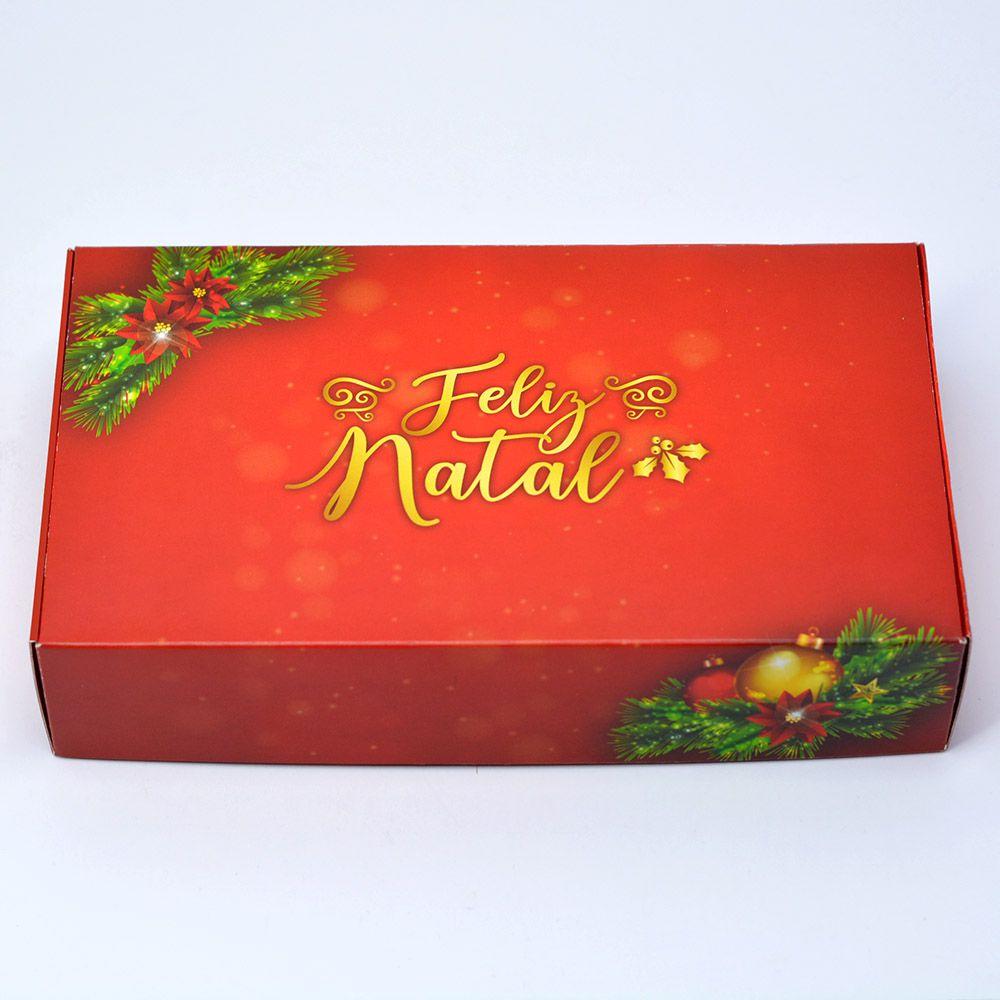Caixa para 15 doces - Natal Esplêndido c/10 un
