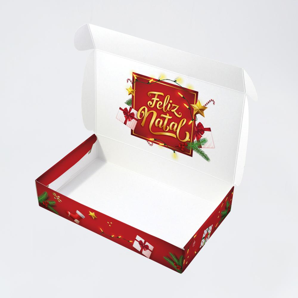 Caixa para 15 doces - Natal Iluminado C/10 un