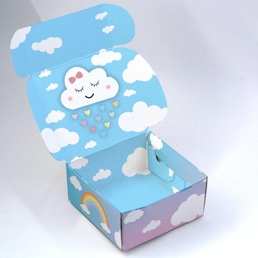 Caixa para 4 doces - Chuva de Amor c/10 un