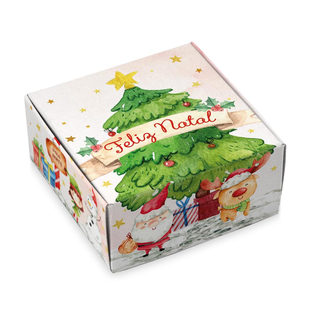 Caixa Para 4 Doces - Natal Alegre C/10un