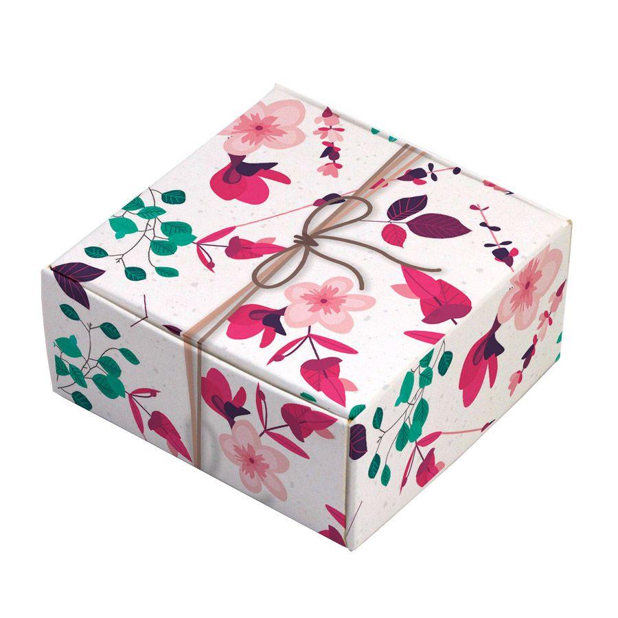 Caixa para 4 doces - Presente Floral c/50 un