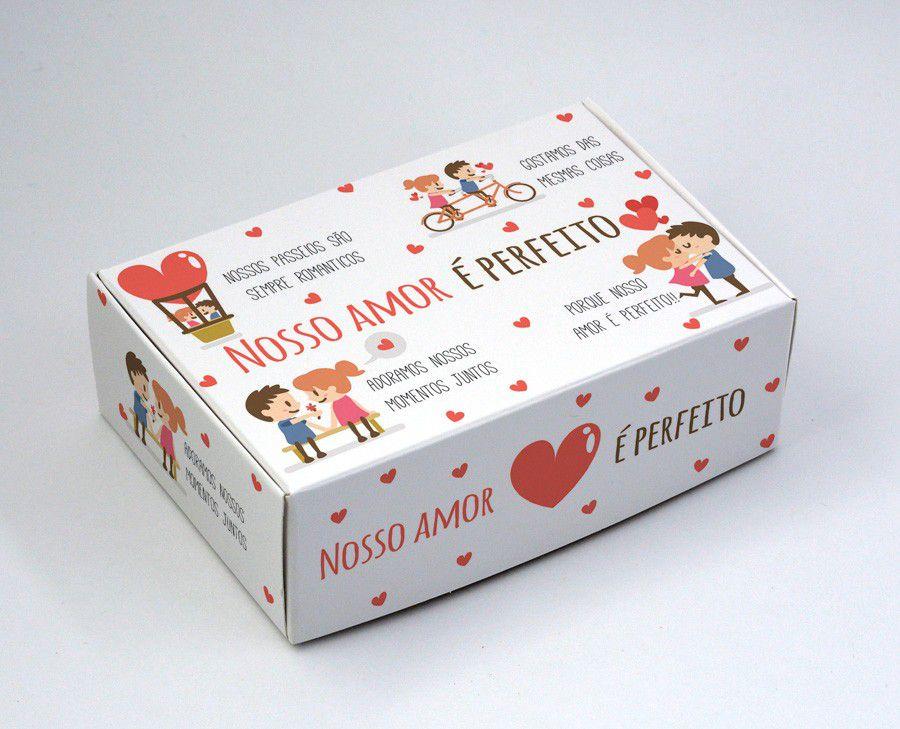 Caixa para 6 doces - Amor Perfeito c/10 un