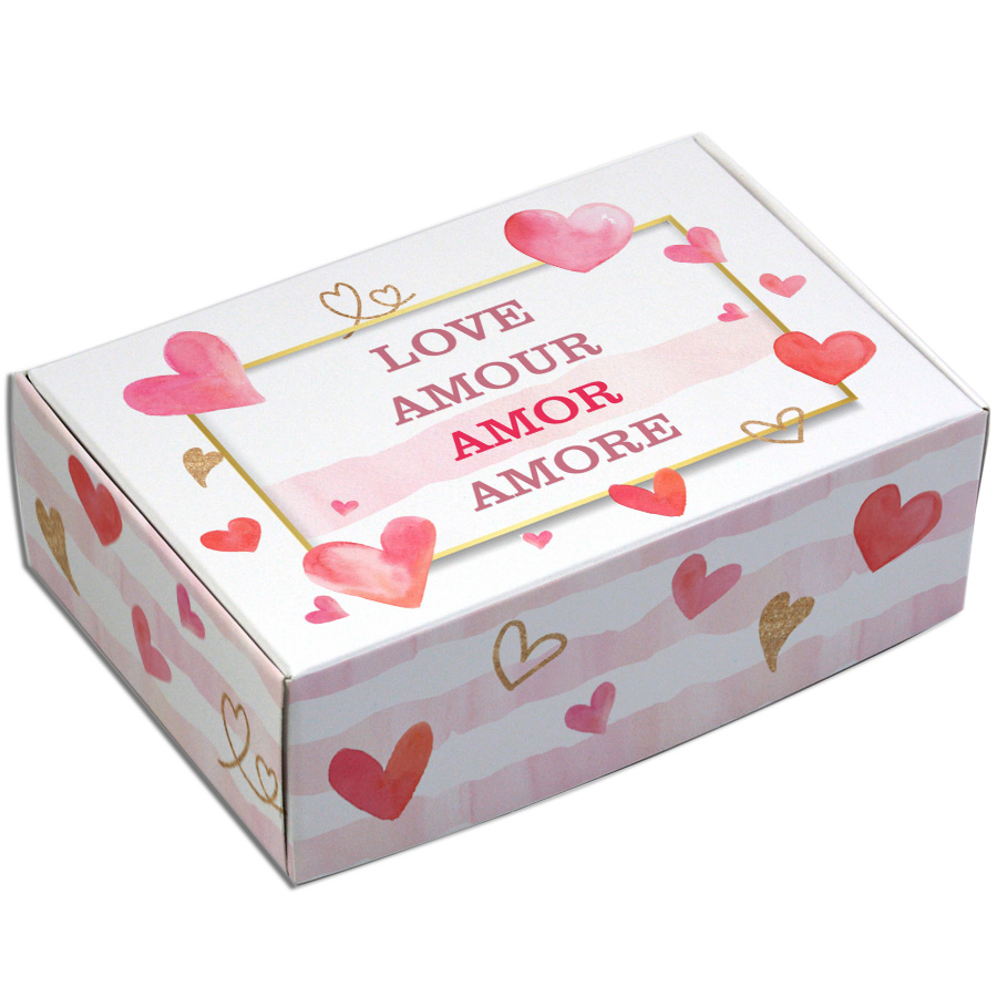 Caixa Para 6 Doces - Amore  C/10 UN