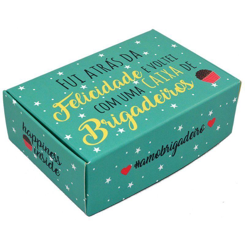 Caixa para 6 doces - Fui Atrás da Felicidade C/10 UN