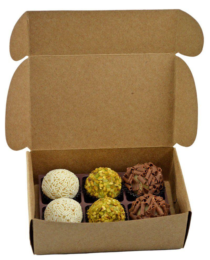 Caixa para 6 doces - KRAFT c/10 un