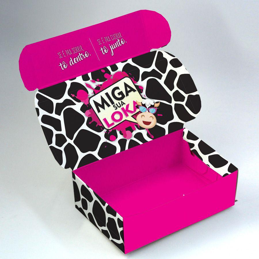 Caixa para 6 doces - Miga Sua Loka C/10 UN