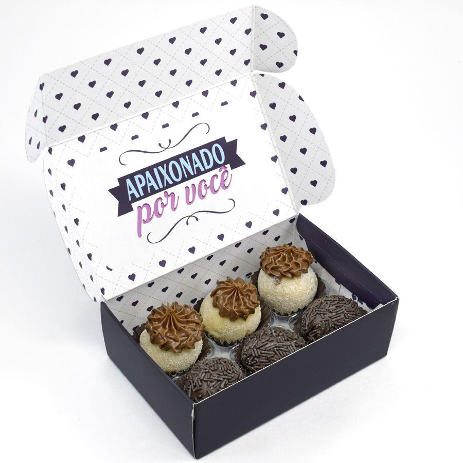 Caixa para 6 doces Namorados - Apaixonados C/10 UN