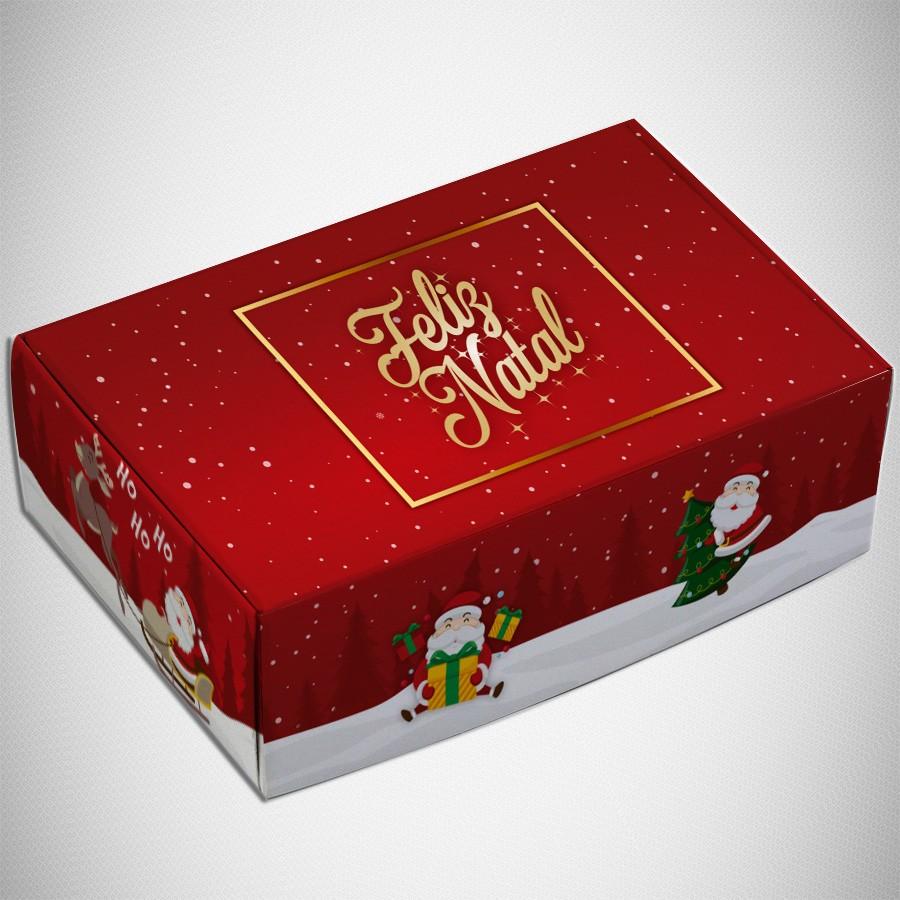 Caixa para 6 doces - Natal Divertido  C/10 UN