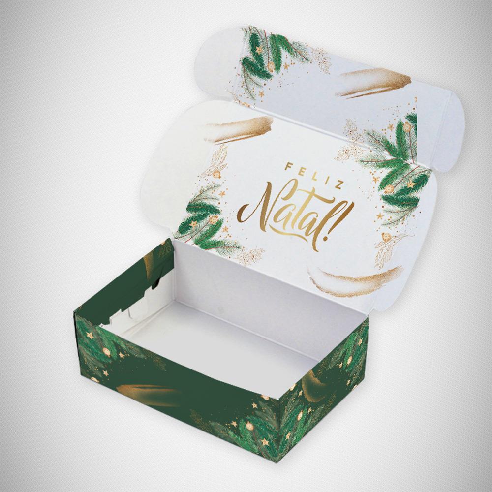 Caixa para 6 doces - Natal Esperança C/10 UN