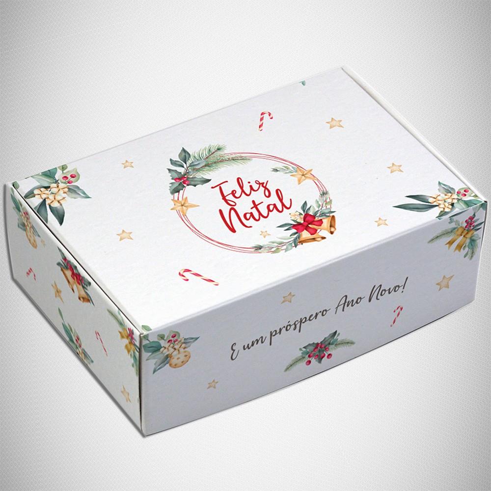 Caixa para 6 doces - Natal Estrela  C/10 UN