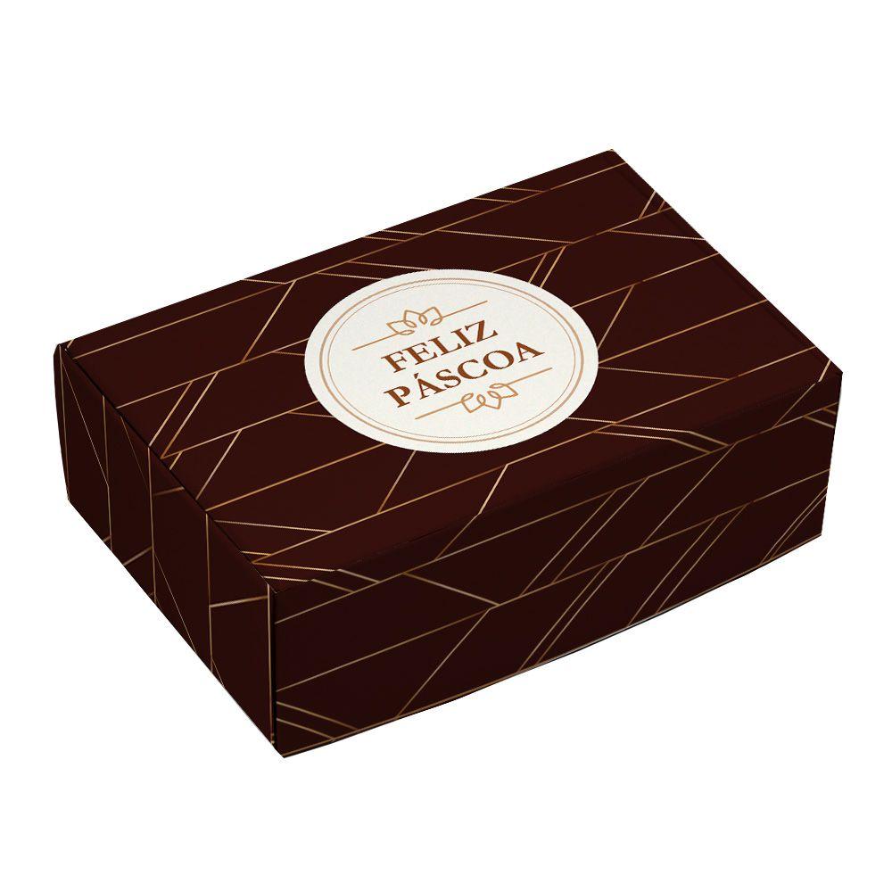 Caixa para 6 doces Páscoa - Luxo C/ 10 UN