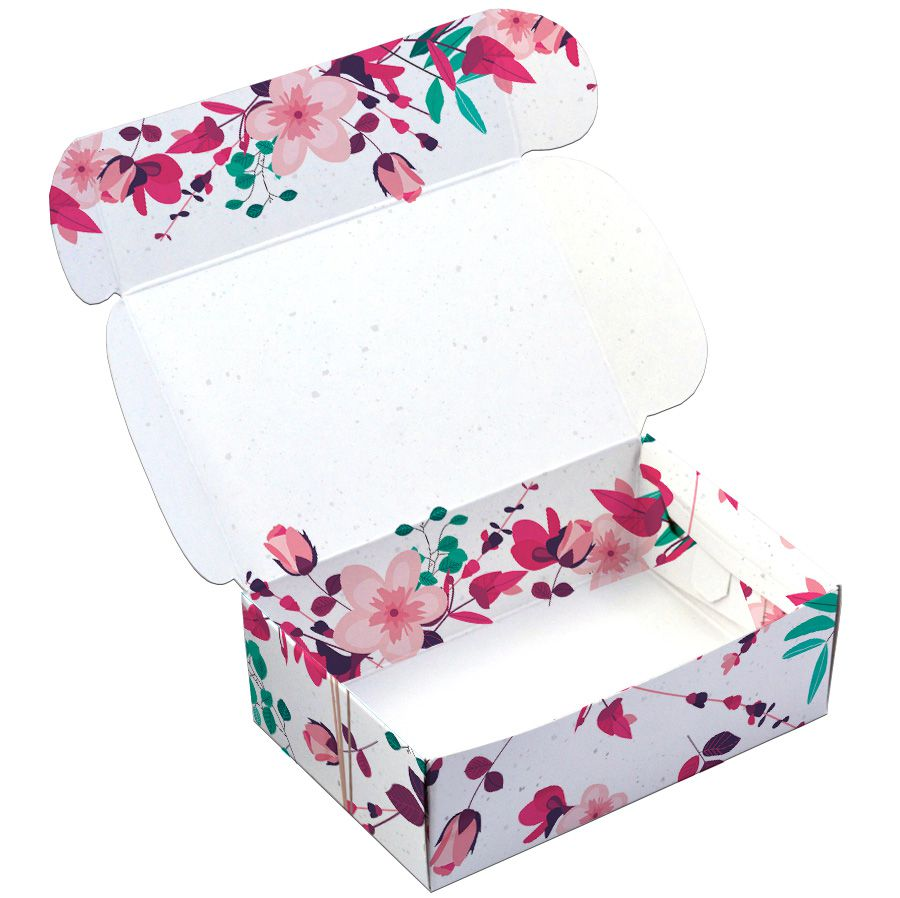 Caixa para 6 doces - Presente Floral C/10 UN
