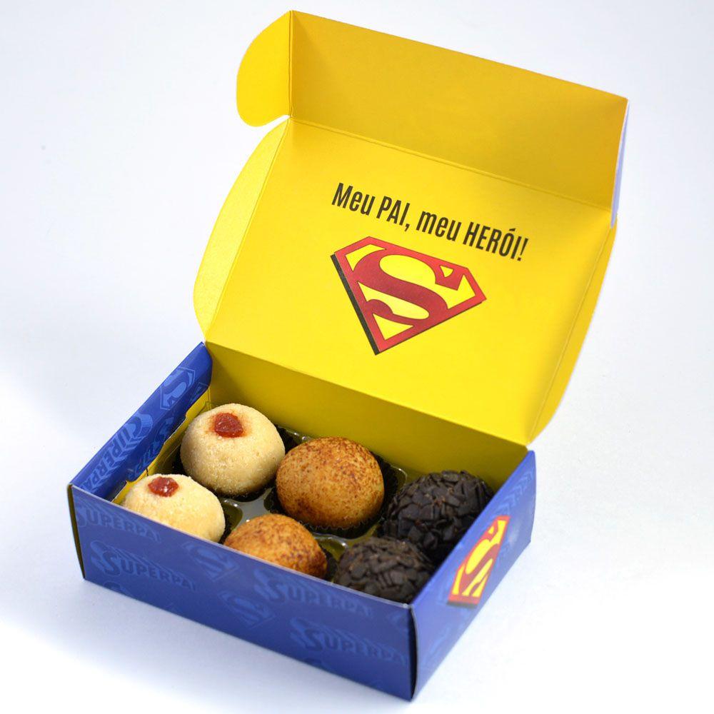 Caixa para 6 doces - Super Pai C/10 UN