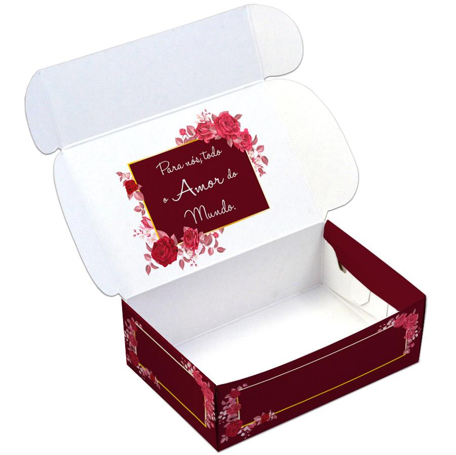 Caixa Para 6 Doces - Todo Amor  C/10 UN