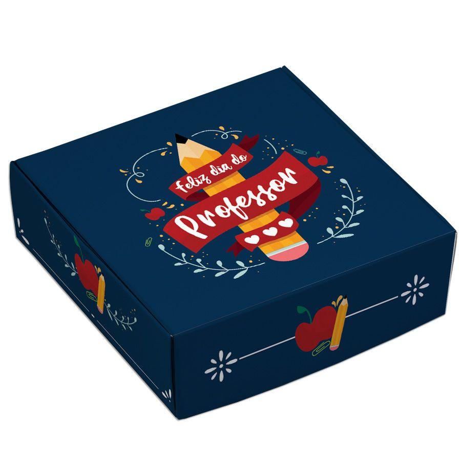 Caixa para 9 doces - Professores Lápis - C/10 un