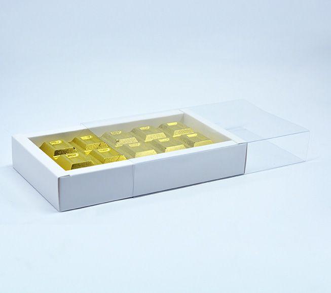 Caixa para Barra de Chocolate Branca c/ 10 un