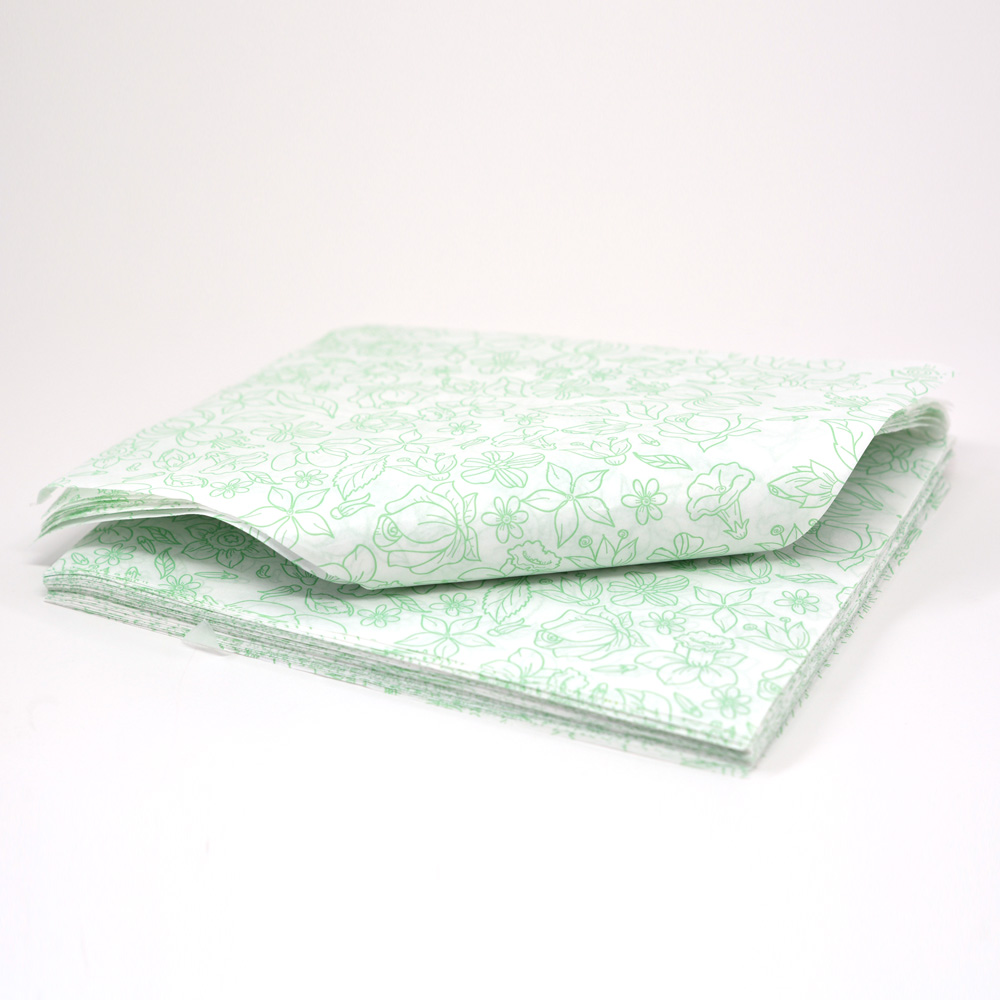 Caixa para Cone Trufado - Floral Verde c/100 un