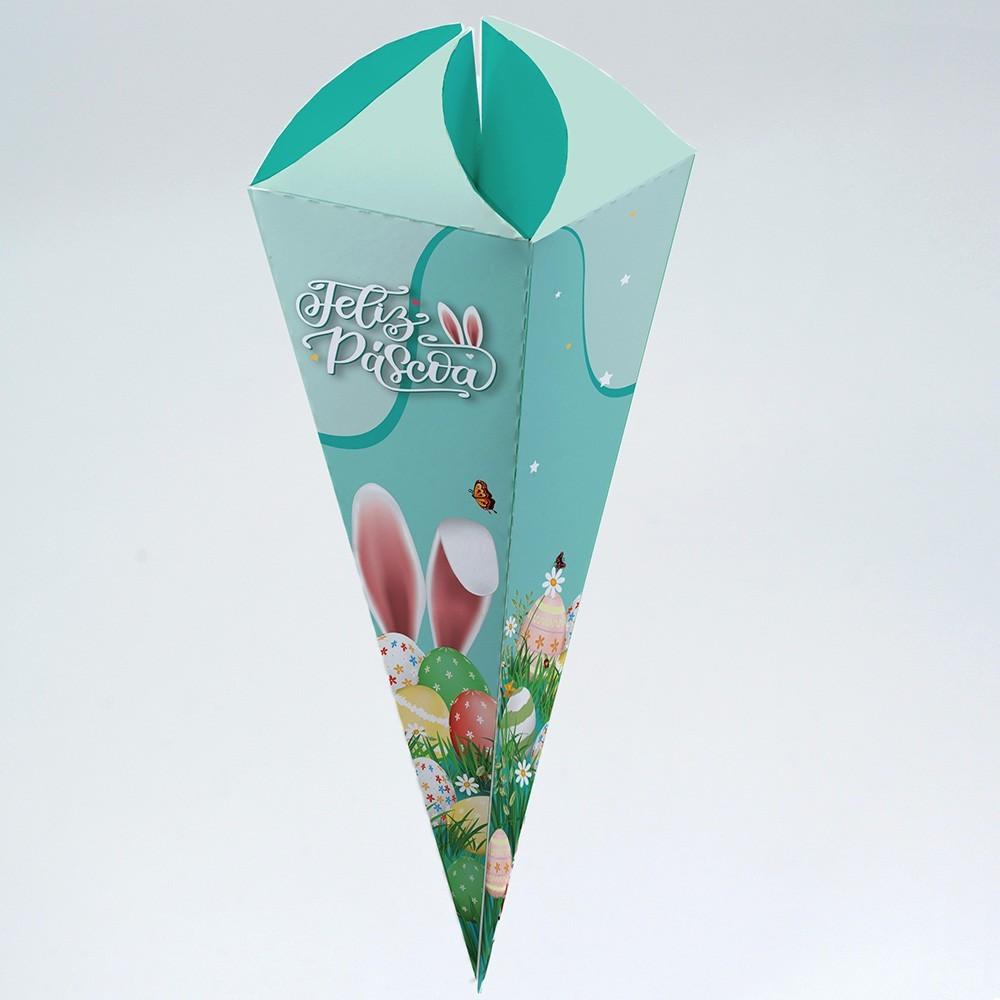 Caixa para Cone Trufado - Magia da Páscoa c/ 100 un