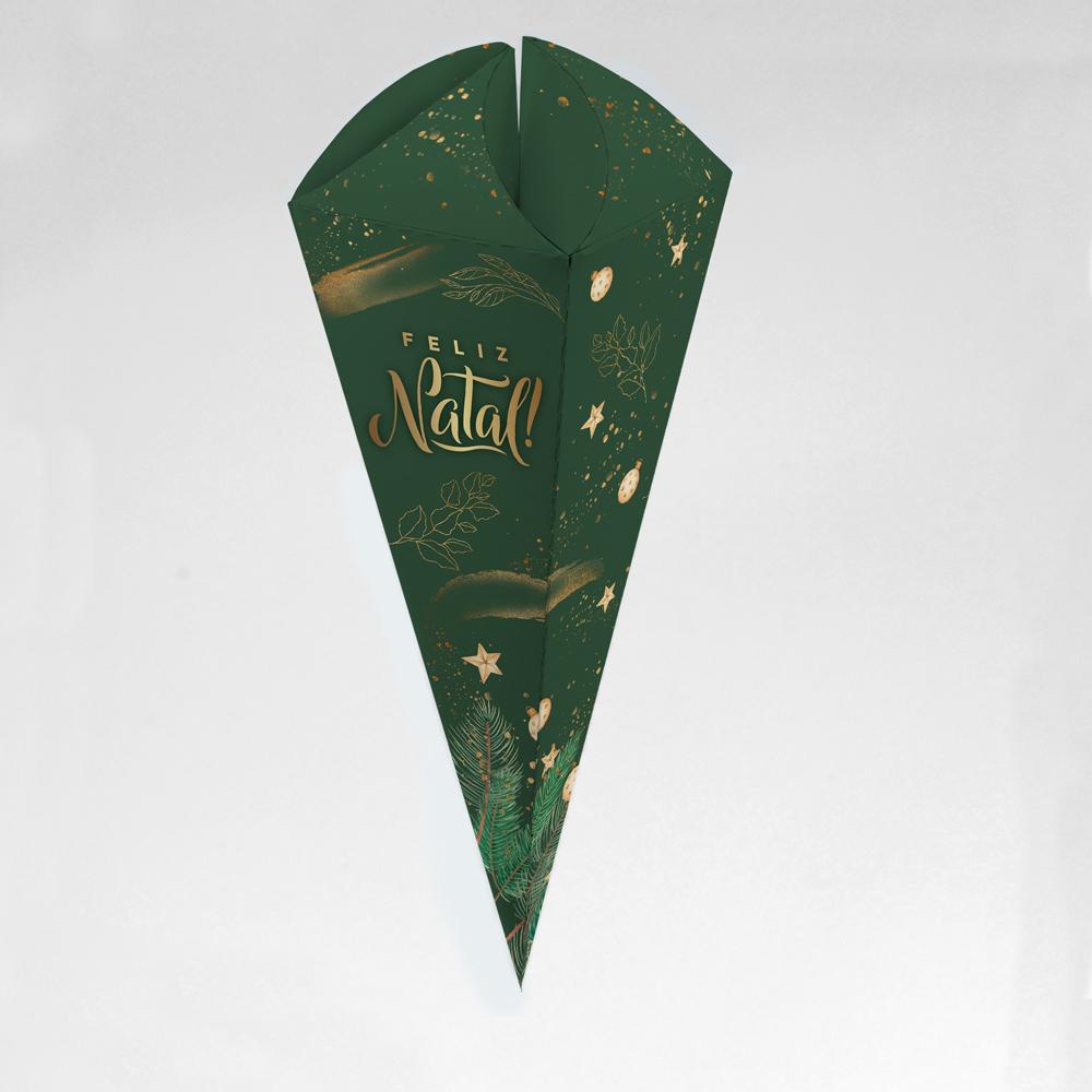 Caixa para Cone Trufado - Natal Esperança c/ 100 un