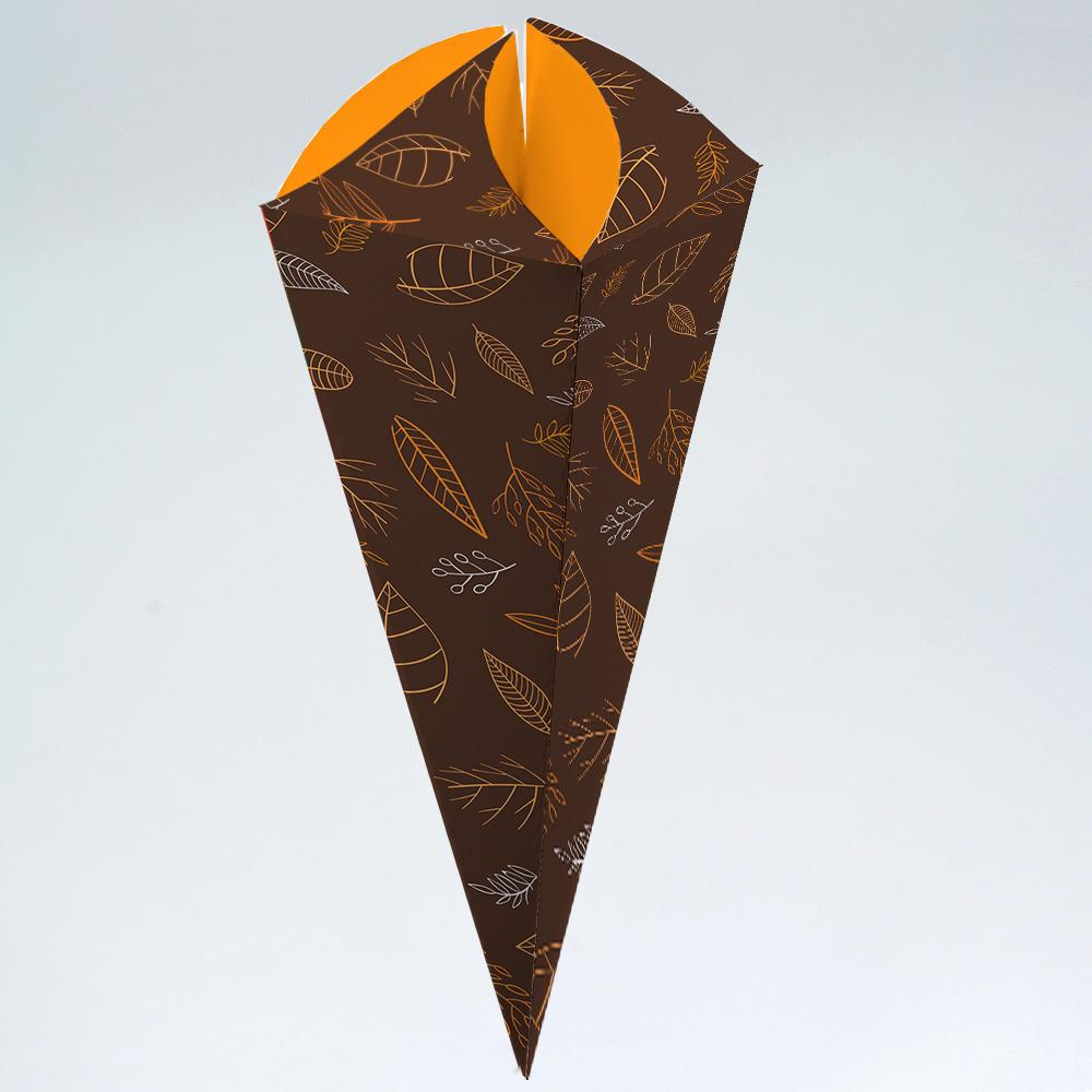 Caixa para Cone Trufado - Outono c/100 un