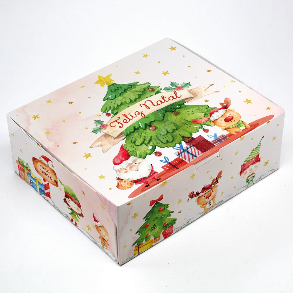 Caixa para KIT P - Natal Alegre C/ 10 un