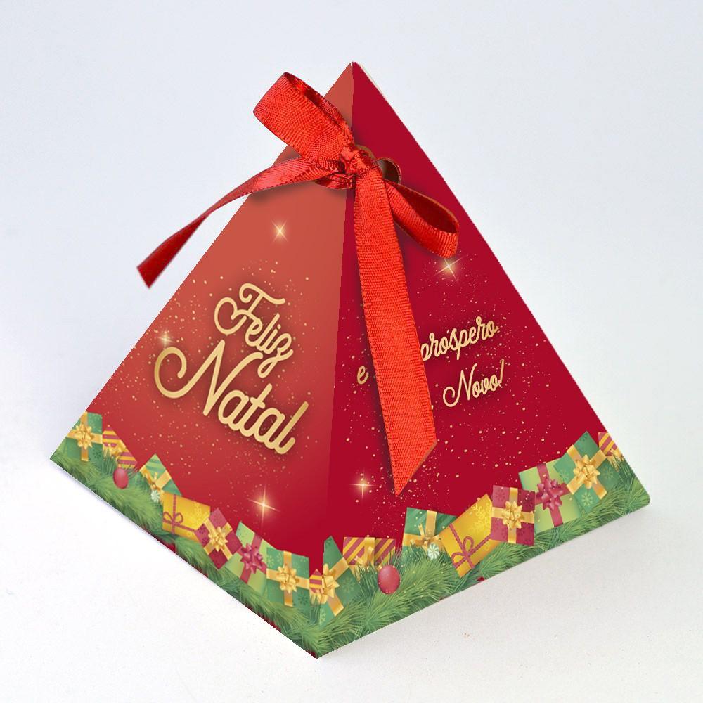 Caixa Pirâmide - Natal Encantado c/10 un