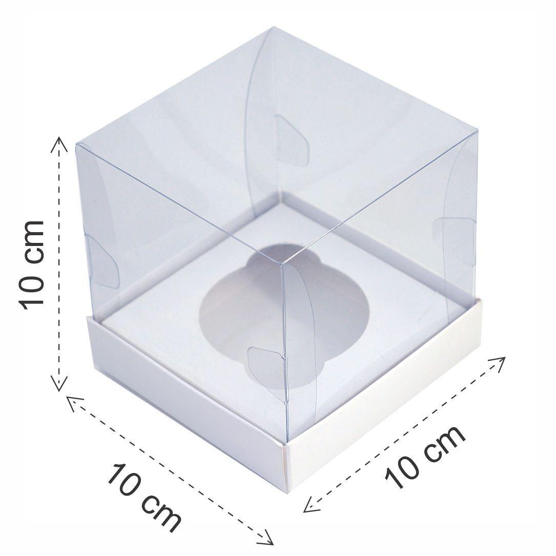 Caixa Premium Cupcake - Branca c/10un