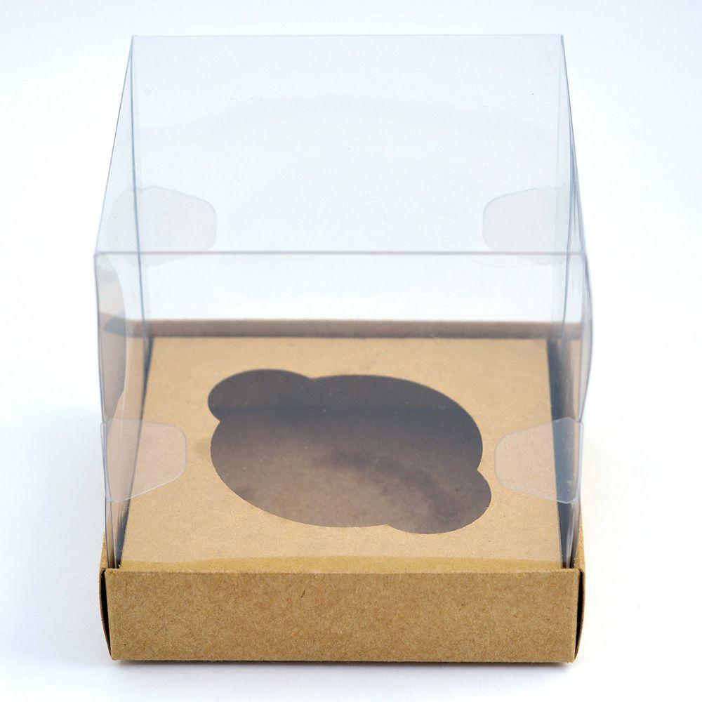 Caixa Premium Cupcake - Kraft c/10un