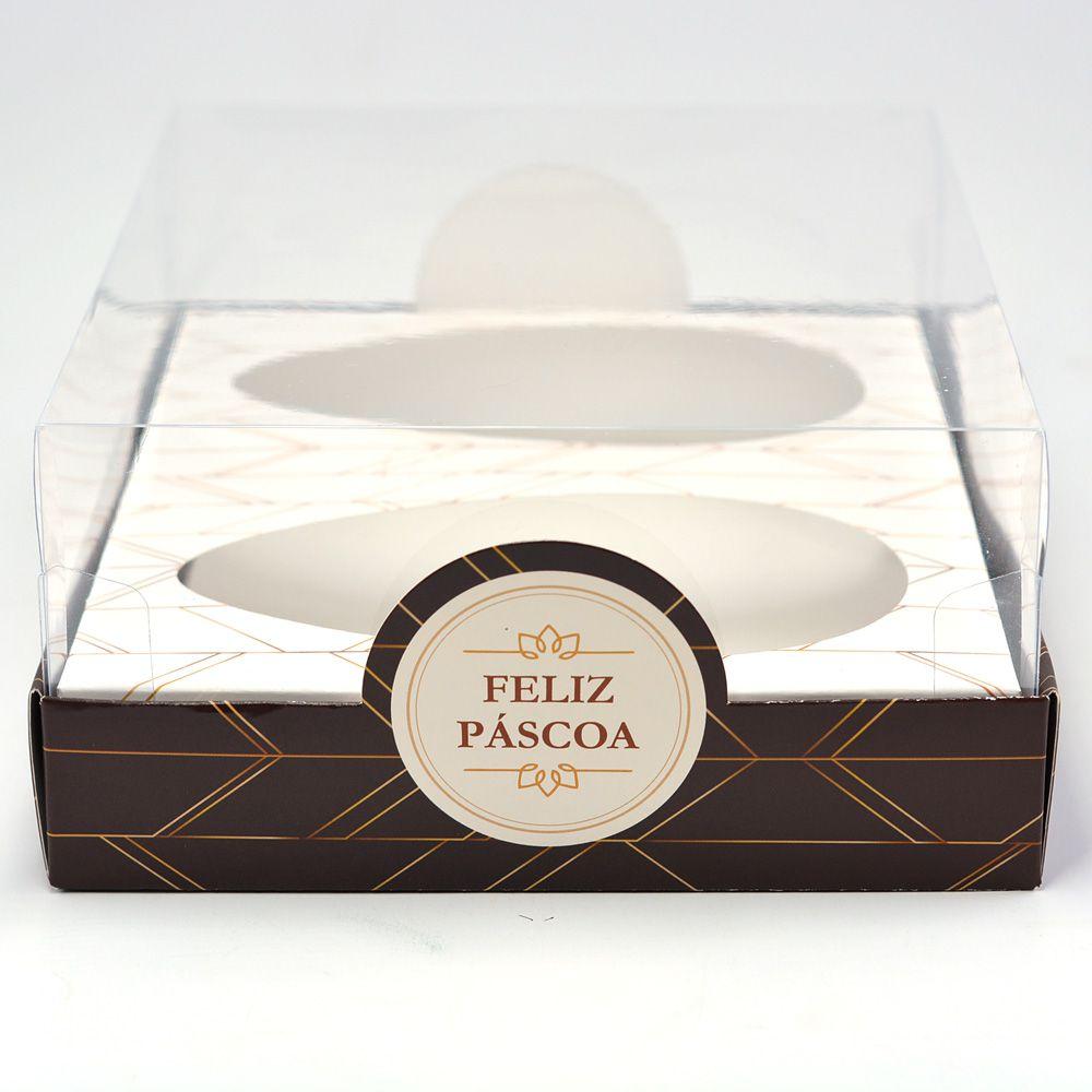 Caixa Premium DUPLO para Ovo de Colher Mod. Luxo c/ 5 un