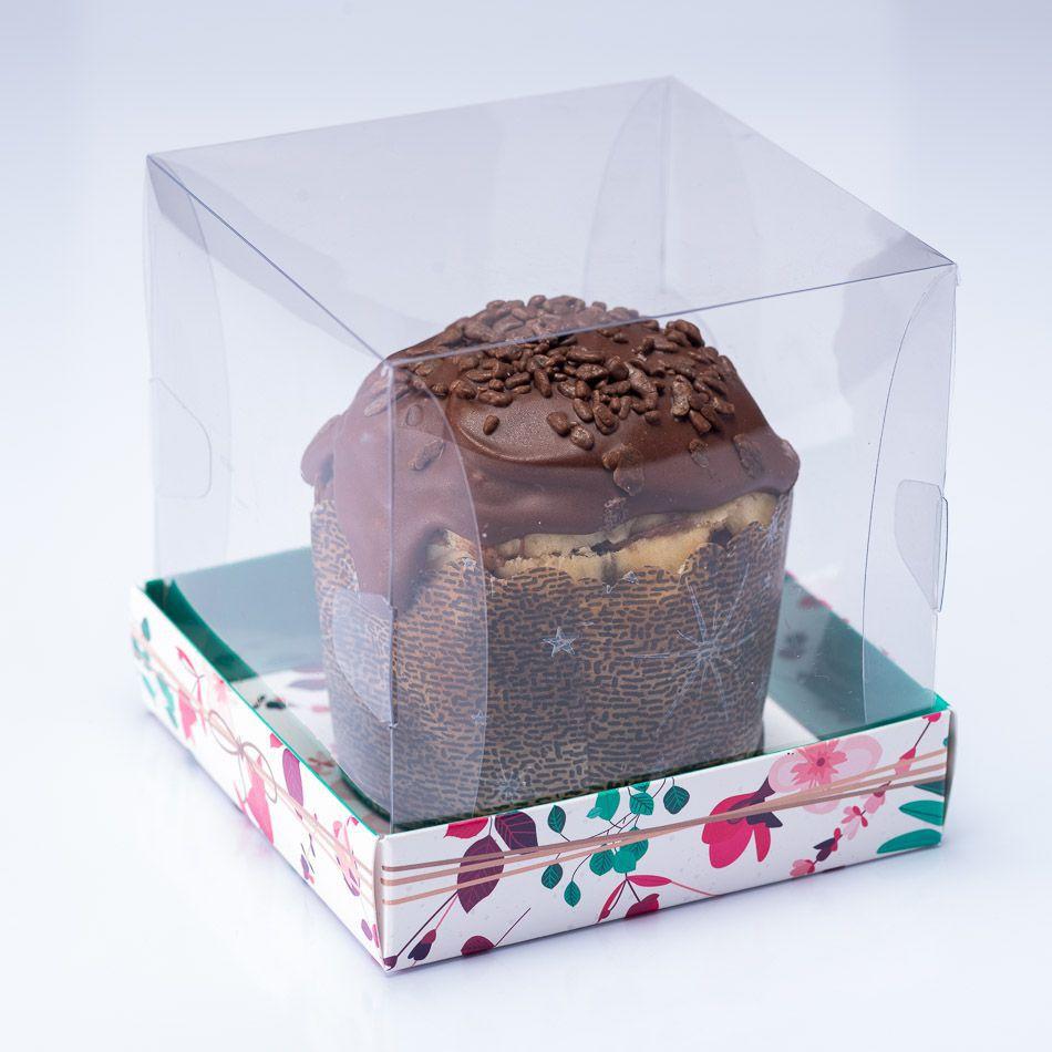 Caixa Premium Mini Panetone / Mini Bolo - Presente Floral c/10un