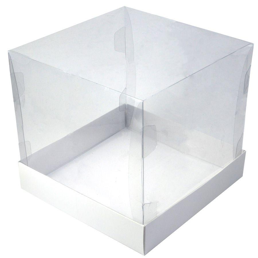 Caixa Premium para Bolo 500g - Branca c/10un
