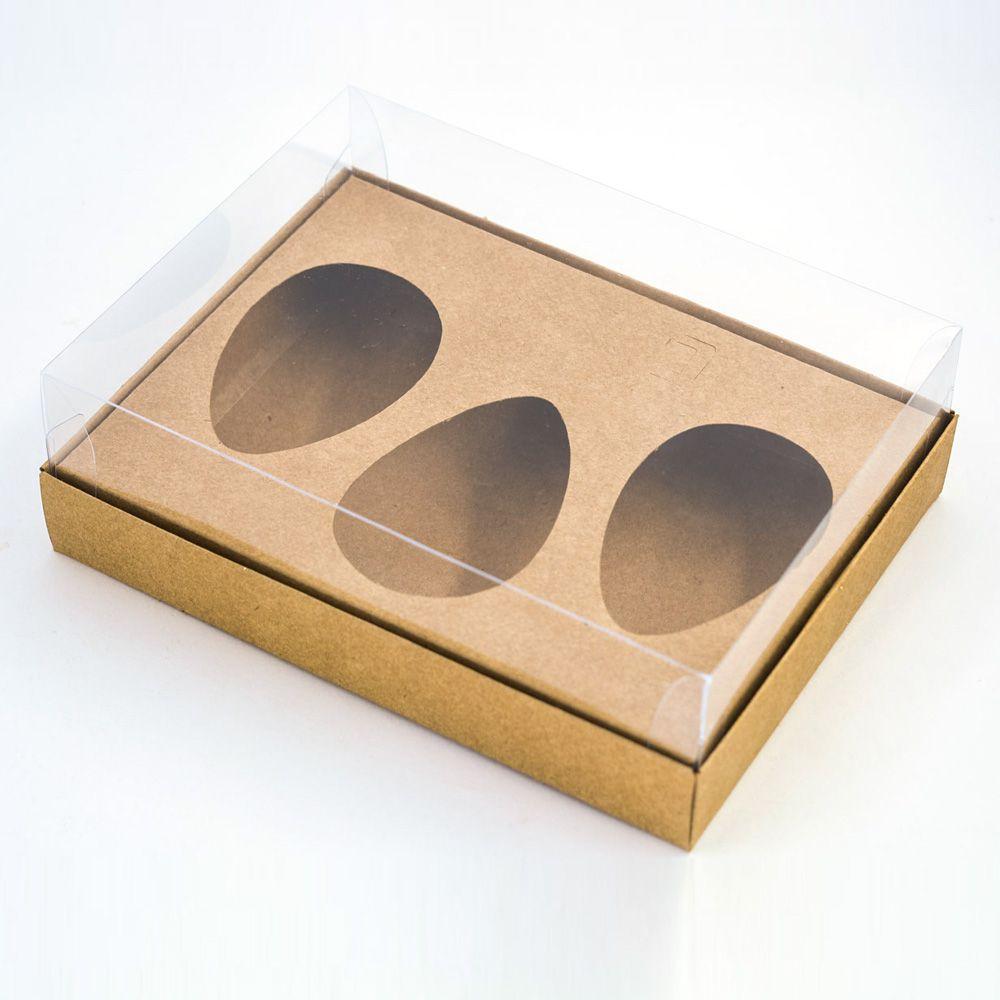 Caixa Premium TRIO para Ovo de Colher - Kraft c/10 un