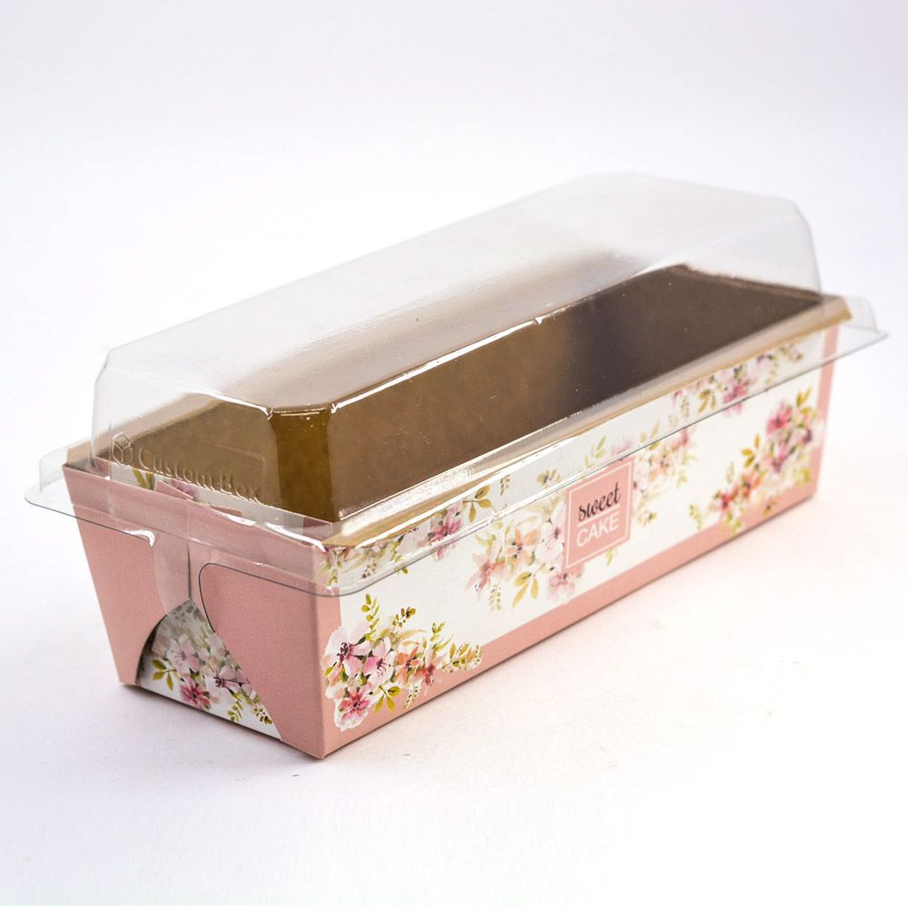 Forma para Bolo Inglês G - C/ Tampa - Mod Floral Rosé c/100 un