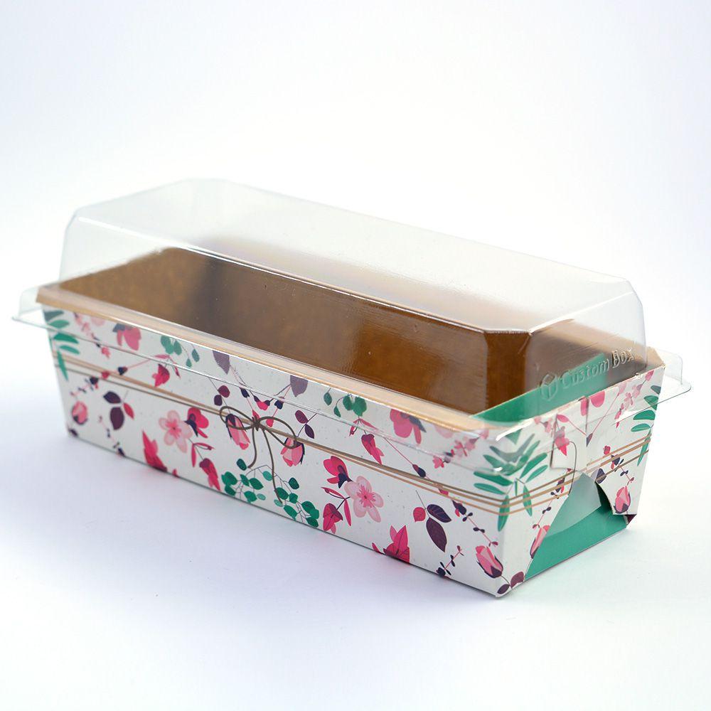 Forma para Bolo Inglês G - C/ Tampa - Mod Presente Floral c/10 un