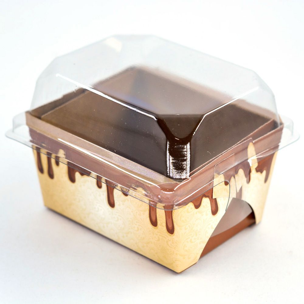 Forma para Bolo Inglês P - C/ Tampa - Mod Chocolate c/10 un