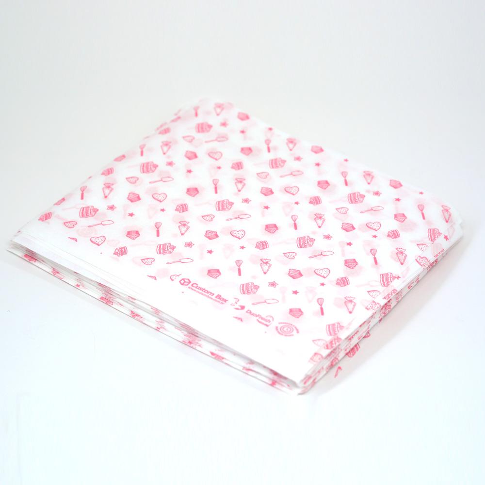 Papel Duofresh® para Embrulho G - Confeitaria Rosé C/100 un