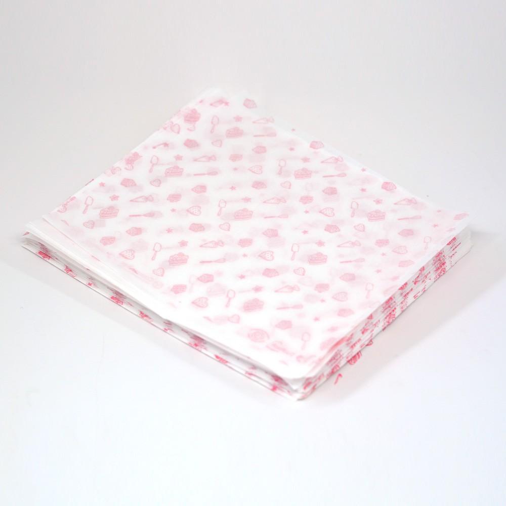 Papel Duofresh® para Embrulho P - Confeitaria Rosé C/100 un