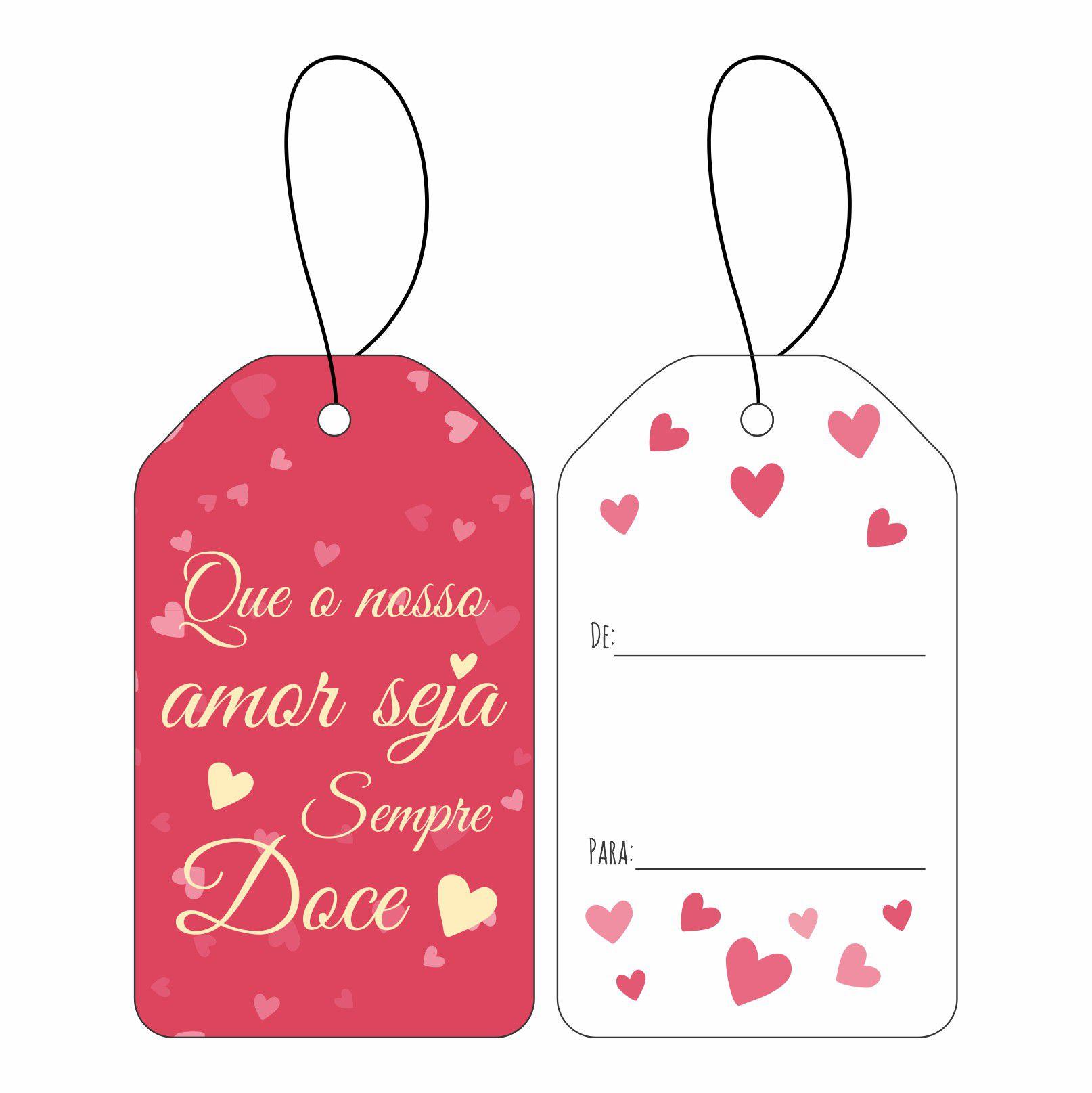 Tag Namorados - Amor Doce C/10 UN