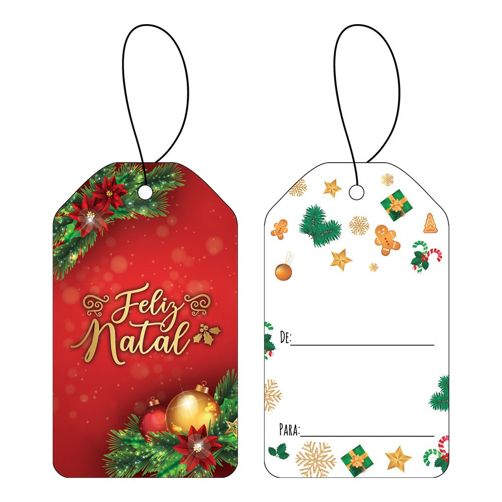Tag Natal Esplêndido C/10 UN