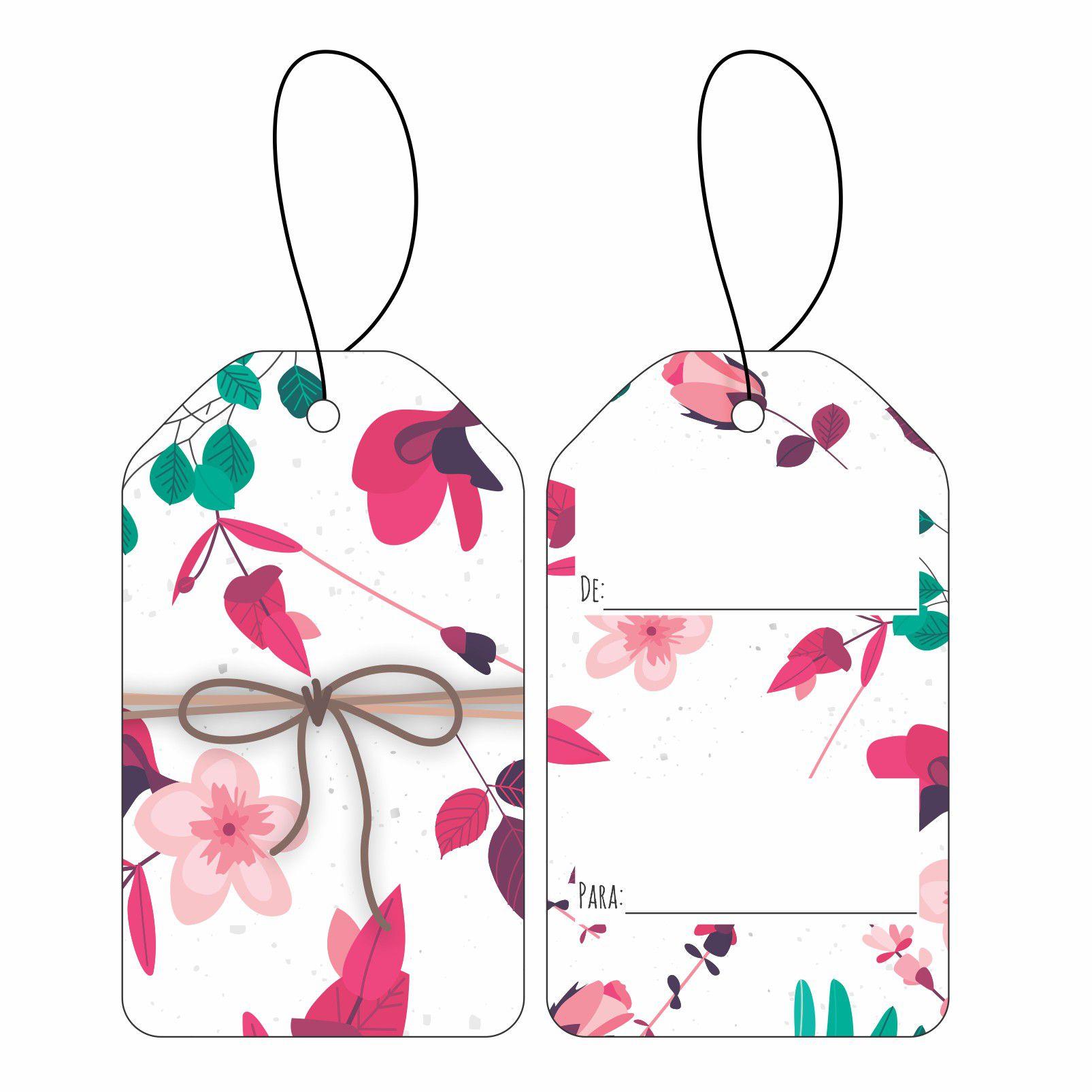 Tag - Presente Floral C/10 UN