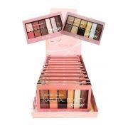 Box 12 un. Paleta De Sombras 9 Cores B049 Natural Beauty CRUSH Belle Angel